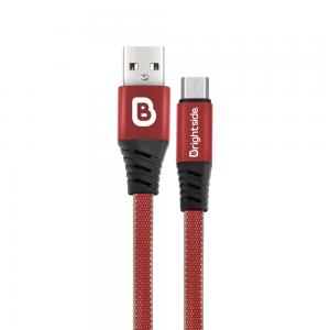 Cable de Carga USB 1.2M Enmallado Plano 2.4A Carga Rápida / BSC-BF120M CABLE MICRO USB