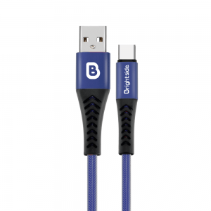 Cable de Carga USB 1.2M Enmallado Redondo 2.4A Carga Rápida / BSC-FT120C TIPO C