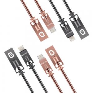 Cable de Carga USB 1.2M Cuerpo Metálico 2.4A Carga Rápida / BSC-MH100M