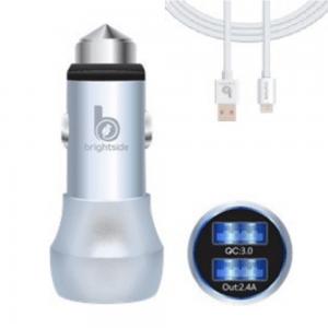 Cargador para automóvil de doble salida USB – Cable MicroUSB / BSC03-1