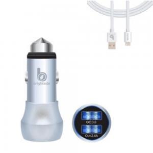 Cargador para automóvil de doble salida USB / BSC07QC-3